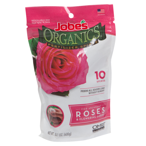 Jobe's Organics Rose & Flowering Shrub Spikes