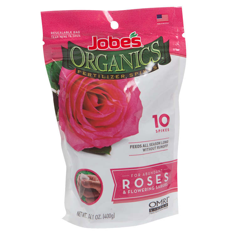 Jobe's Organics Rose & Flowering Shrub Spikes