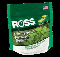 bag of 36 Ross root feeder fertilizer refills for trees and shrubs
