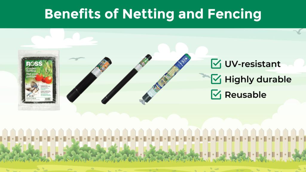 Ross Garden Netting, Easy Gardener Birdblock, Easy Gardener Deer Barrier, and Easy Gardener Multi-Use Netting